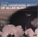Cover for Since 2006: The Saxophone Music of Allan Blank