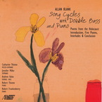 Cover for Allan Blank: Song Cycles with Double Bass and Piano