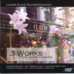 Cover for Laura Elise Schwendinger: 3 Works for Solo Instruments & Orchestra