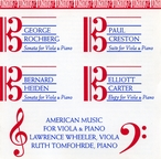Cover for American Music for Viola & Piano