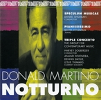 Cover for Donald Martino: Triple Concerto/Notturno