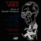 Cover for An American Voice: Music of Randall Thompson