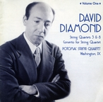 Cover for David Diamond: Complete String Quartets, Vol. 1
