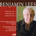 Cover for Benjamin Lees: Symphony No. 2, No. 3, & No. 5