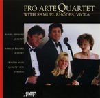 Cover for Sessions/Rhodes/Mays: Pro Arte String Quartet with Samuel Rhodes