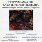 Cover for Extravaganza for Saxophone and Orchestra
