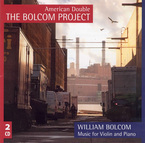 Cover for William Bolcom: Music for Violin and Piano