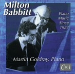 Cover for Milton Babbitt: Piano Music Since 1983