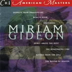 Cover for Music of Miriam Gideon