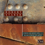 Cover for Robert Starer: String Quartets Nos. 1, 2, & 3