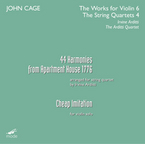 Cover for John Cage Edition - Vol. 33: The Works for Violin 6 and The Works for String Quartet 4