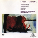 Cover for Roger Sessions: Symphonies 4 & 5, Rhapsody