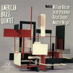 Cover for American Brass Quintet: Works by Bolcom, Druckman, Shapey, Wright