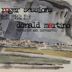 Cover for Roger Sessions and Donald Martino: Piano Sonatas