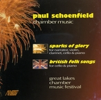 Cover for Paul Schoenfield: British Folk Songs/Sparks of Glory