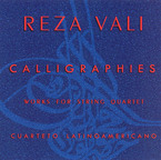 Cover for Reza Vali: Calligraphies