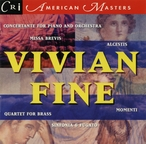 Cover for Music of Vivian Fine