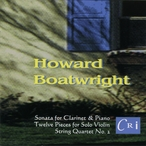 Cover for Music of Howard Boatwright
