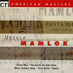 Cover for Ursula Mamlok: Chamber Works