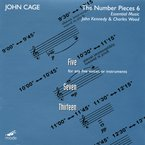 Cover for John Cage Edition, Vol. 39: The Number Pieces 6