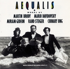 Cover for Aequalis: Brody/Davidovsky/Gideon/Steiger/Ung